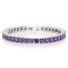 15.00 Ct Sparkling Princess Cut Cubic Zirconia CZ Tennis Bracelet 7 Inch