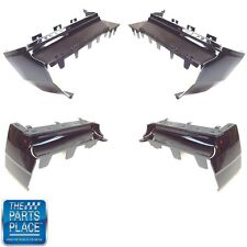 81-87 Buick Regal GNX OEM Quality Black Front Rear L R Painted Bumper Filler Set