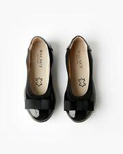 NEW Walnut Melbourne Girl's Slip On Catie Bow Ballet Patent Black