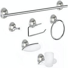 6 Pcs Bathroom Hardware Set Bath Accessory Hook Bar Ring Toilet Paper Holder