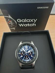 Samsung Galaxy Watch - 46mm Silver Stainless Steel Case, Black Strap