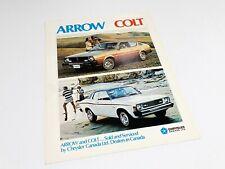 1976 Dodge Colt Plymouth Arrow Brochure