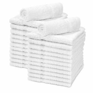 Washcloth Pure Cotton Baby Soft Body Face Cloths White Extra Absorbent 12 Packs