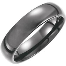 Tungsten 6MM Black PVD Domed Comfort-Fit Band