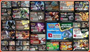 LEAGUE SEASON GYM PROMO / PRE RELEASE Pokemon Online Code Cards ~ Email Codes