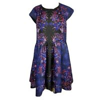 City Chic Womens Plus Size Fit And Flare Midi Beaded Dress Size M