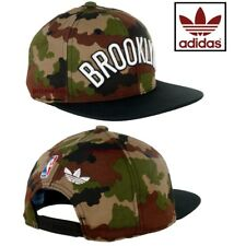 adidas Originals NBA Camouflage Brooklyn Multicolour Unisex Snapback Cap *NEW