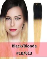 Black/Blonde Wavy Straight Sew in Hair Weave High Quality 100 Human Ali Bundle