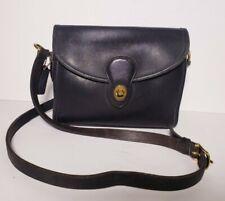 Coach Women's Vintage Black Leather Shoulder Bag #0488-215 Handbag!
