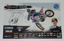 COOPER WEBB SIGNED AUTO'D 11X17 PHOTO POSTER AMA SUPERCROSS MONSTER YAMAHA THOR