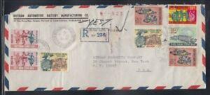 SOUTH VIETNAM Registered Cover Saigon to New York City 31-12-1971 Cancel