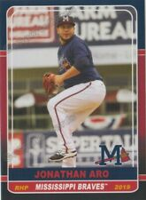2019 Mississippi Braves Jonathan Aro RC Rookie Atlanta