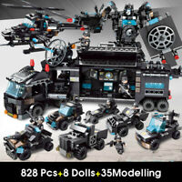828pcs City Police Station Building Blocks Legoingly City SWAT Team Truck Blocks