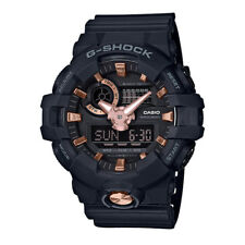 -NEW- Casio G-Shock Black Watch with Rose Gold Tone Accents GA710B-1A4