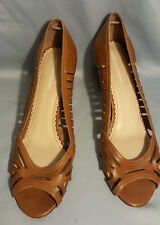 Womens Brown Leather High Heels Johnson and Murphy 10M