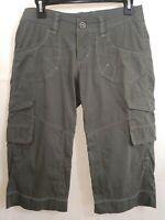 Kuhl Womens Size 4 Dark Green Capri Cargo Hiking Casual Pants