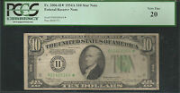 Fr. 2006-H* 1934-A $10 *STAR* FRN FEDERAL RESERVE NOTE ST. LOUIS, MO PCGS VF-20