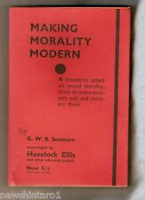 #LL.  1934 AUSTRALIAN SEXUAL REFORM BOOK - MAKING MORALITY MODERN, SIGNED