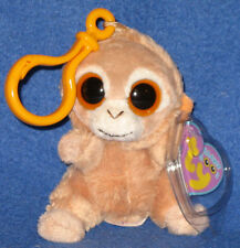 TY TANGERINE the MONKEY KEY CLIP - BEANIE BOOS - MINT with MINT TAG