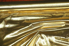"""TISSUE LAME FABRIC  GOLD 1 YD  44"""" WIDE  COSTUME DECORATING CRAFT"""