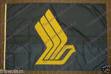 SINGAPORE AIRLINES - EXHIBITION FLAG BANNER 6 ft x 9 ft / 183cm x 275cm 1980s