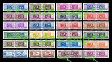 ITALIA 1955 1973 Pacchi Postali completa 24v. fil. stelle ** singoli e quartine