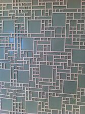 Crystal glass mosaic tiles - Kitchen splash back/Bathroom feature walls - White