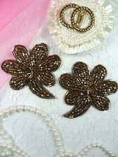 FS739 Bronze Beaded Mirror Pair Appliques ~ 4000 items in stock @ Glory's House!