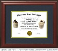 Moonshine Diploma Your Name  Distiller mash alcohol copper proof & tralle boiler