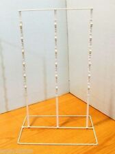 """For Sale Triple Strip 39 Clip 6"""" Apart Snack Product Counter Display (White)"""