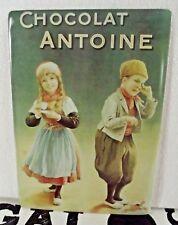 Ancienne Plaque Publicitaire Vintage Chocolat Antoine Cacao Lait Enfants