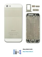 iPhone 5 Silver Replacement Housing Back Cover Case Mid Frame & FREE TOOL KIT UK