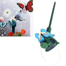Solar Powered Dancing Flying Butterfly Garden Decoration Color At Random #BU