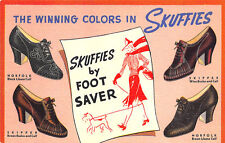 Detroit Mi Healy Shoe Shops Skuffies by Foot Saver Curt Teich Linen Postcard