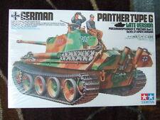 1990s TAMIYA 1/35 SCALE MIB GERMAN PANTHER TANK MODEL KIT SEALED BOX TYPE G LATE