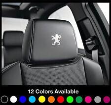 6 PEUGEOT Logo Headrest Car Seat Decals Badge Sticker Rcz Gti 208 308 408 CC 207
