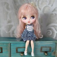 "12"" Blythe Nude Doll from Factory Pink Hair Eyebrow Mouth+Big Rabbit Tooth"