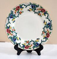 """Two Beautiful Colorful Royal Cauldon Victoria 10.5""""  Dinner Plate Lovely Pattern"""