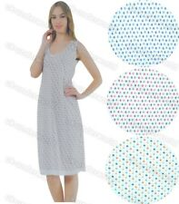 Ladies Sleeveless Nightie Womens Cotton Nightdress Nighty V-Neck Spotted  Design 171af4db4