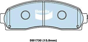 Brake Disc Pad Set  Bendix DB1730 GCT For FORD EXPLORER UT UX UZ 4L