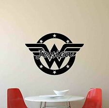 Personalized Wonder Woman Wall Decal Superhero Vinyl Sticker Girl Name Decor 684