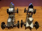 Pair Of Vintage Tether Cars speed king and speed chief projects