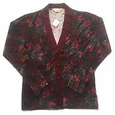 NWT $1k+ Marc Jacobs RUNWAY Men's Floral Print Wool Cardigan Sweater M AUTHENTIC