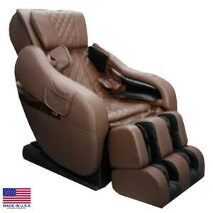 """Luraco Legend PLUS 3D + 58"""" L-Track Massage Chair *Brown *Made in US* New Update"""