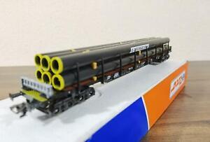 Roco 46781 Rungenwagen mit Röhren                 Wechselstrom