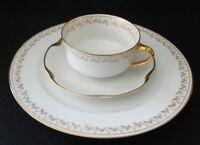 Limoges Haviland France Luncheon set, Tea Cup, Saucer, Salad Plate, 22k gold