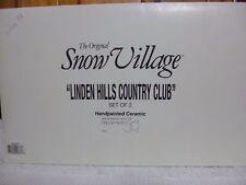 Dept 56 Snow Village Linden Hills Country Club - 54917