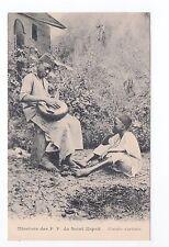 AFRIQUE scenes types ethnies missions Ethnics musicien