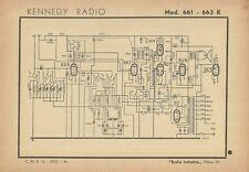 Schema Kennedy Radio Ricevitore Radio Mod. 661 . 663 K Milano 1944
