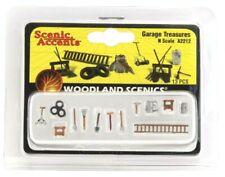 N Scale Woodland Scenics A2212 Garage Treasures (13) pcs